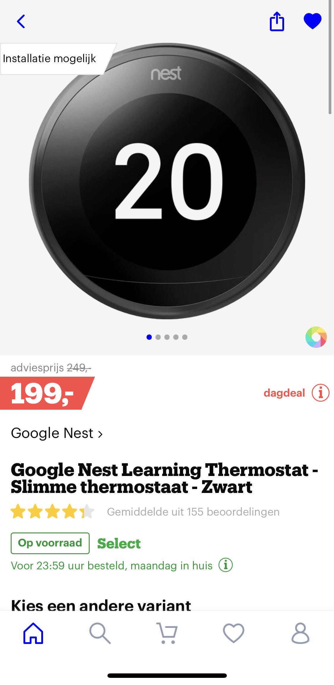 Google Nest Learning Thermostat (3e genaratie)