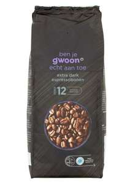 G'woon Espressobonen, Koffiebonen of Snelfiltermaling 1 + 1 Gratis