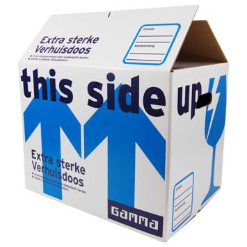 Gamma extra sterke verhuisdoos 3+1 gratis + extra korting