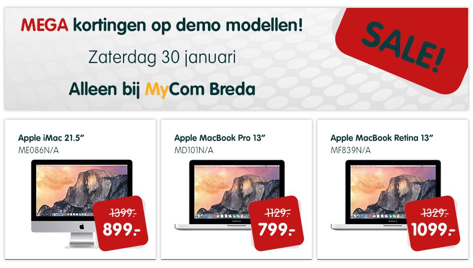 Vandaag 'Mega demo sale' @ MyCom Breda