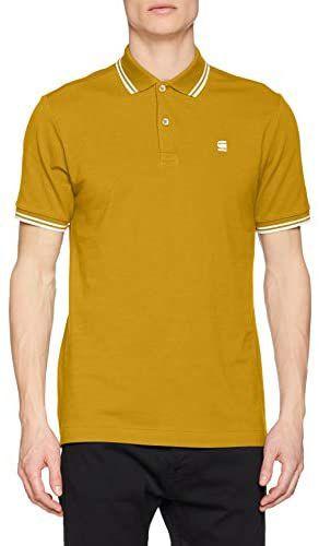 G-STAR RAW Dunda Slim Stripe Polo S/S Poloshirt voor heren - kleur Green Sulphur