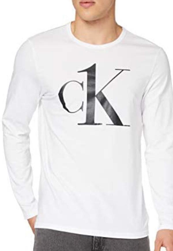 Calvin Klein - Wit longsleeve T-shirt - Heren