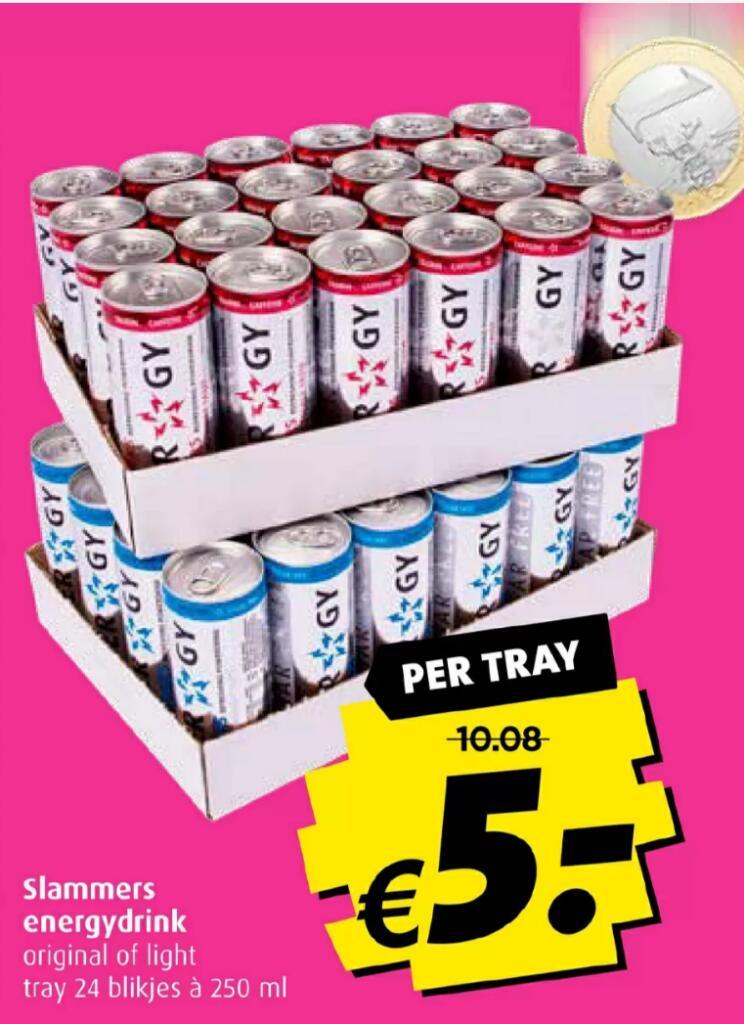 Slammers Energydrink 24 blikjes voor € 5,- @ Boni Supermarkt