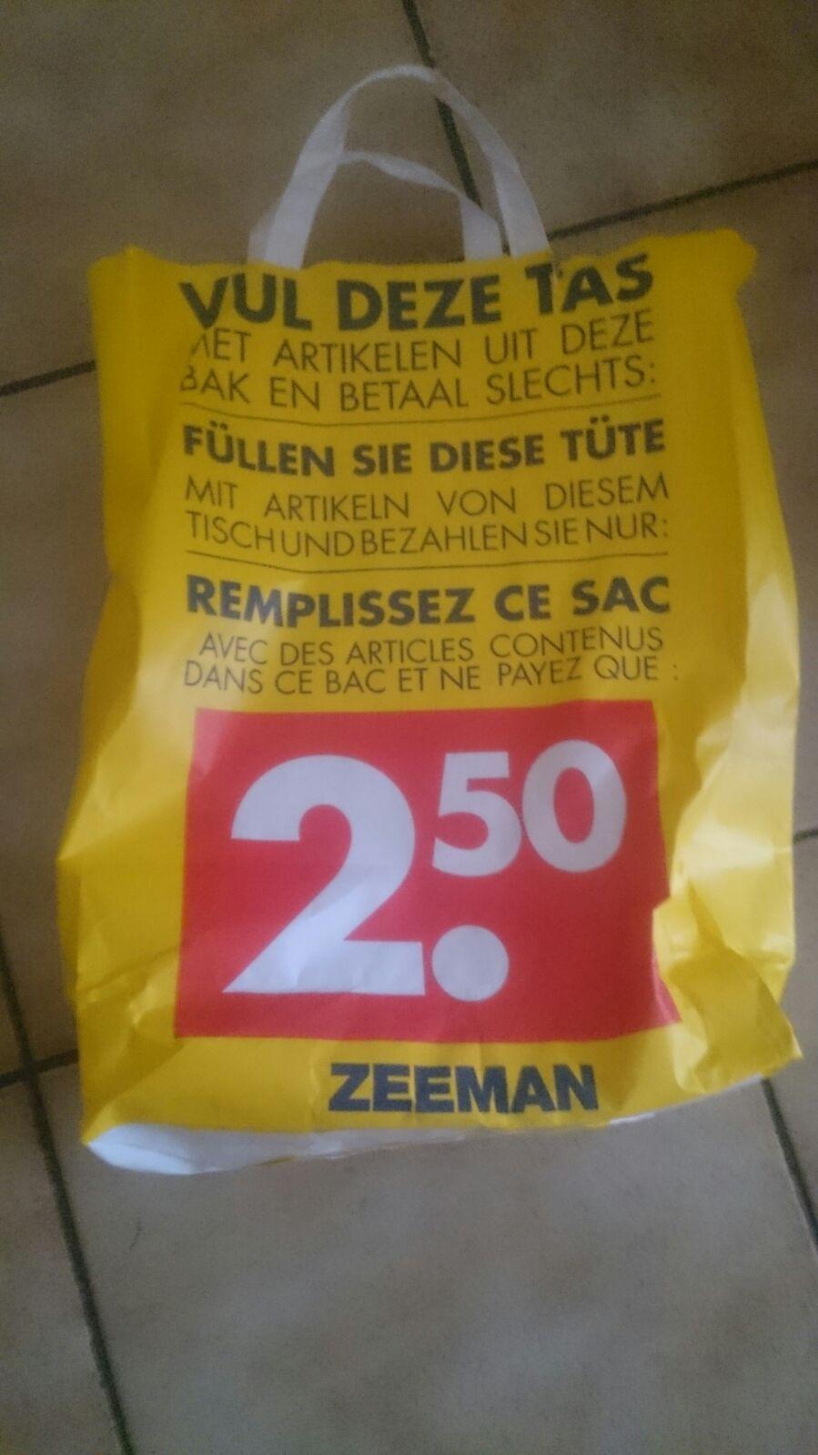 [UPDATE] Vul hele tas met geselecteerde artikelen voor 2,50 @ Zeeman (meerdere locaties)