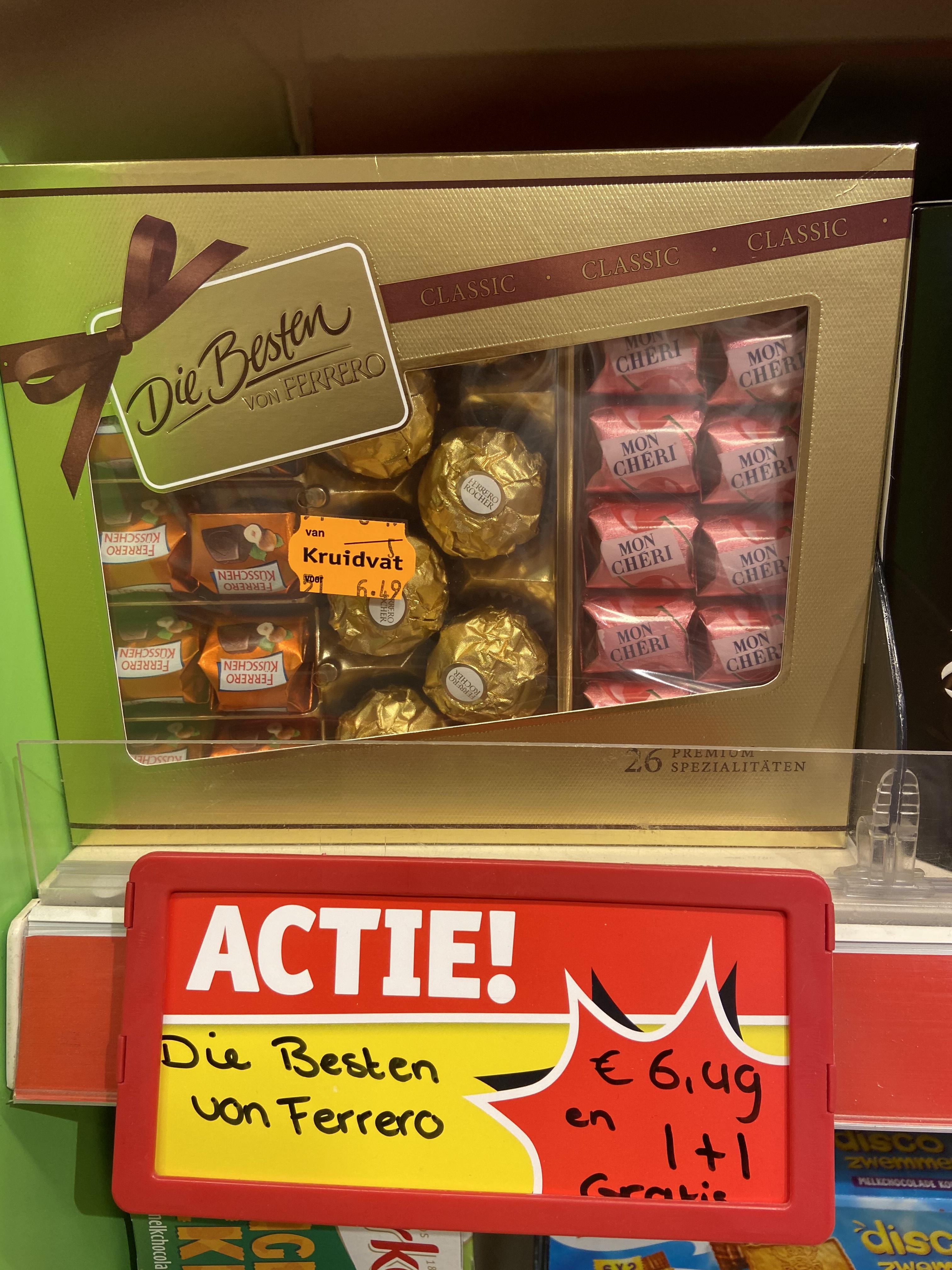 1+1 gratis diverse chocola bij Kruidvat en trekpleister