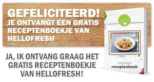 Gratis HelloFresh Receptenboekje in je mail