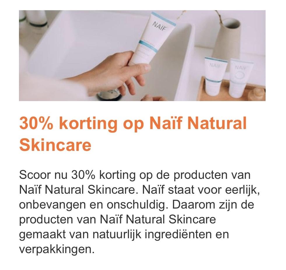 Naïf Natural Skincare 30% korting
