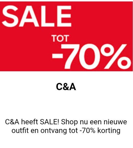 Tot 70% korting op kleding