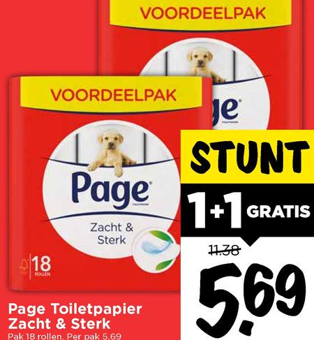 Page Toiletpapier, 18+18 rollen totaal 36 rollen voor 5,69 [DIRK, DEKAMARKT & VOMAR]