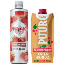 Raak (Zero Sugar) Vruchtensiroop of Puur tot 68% korting @ PLUS