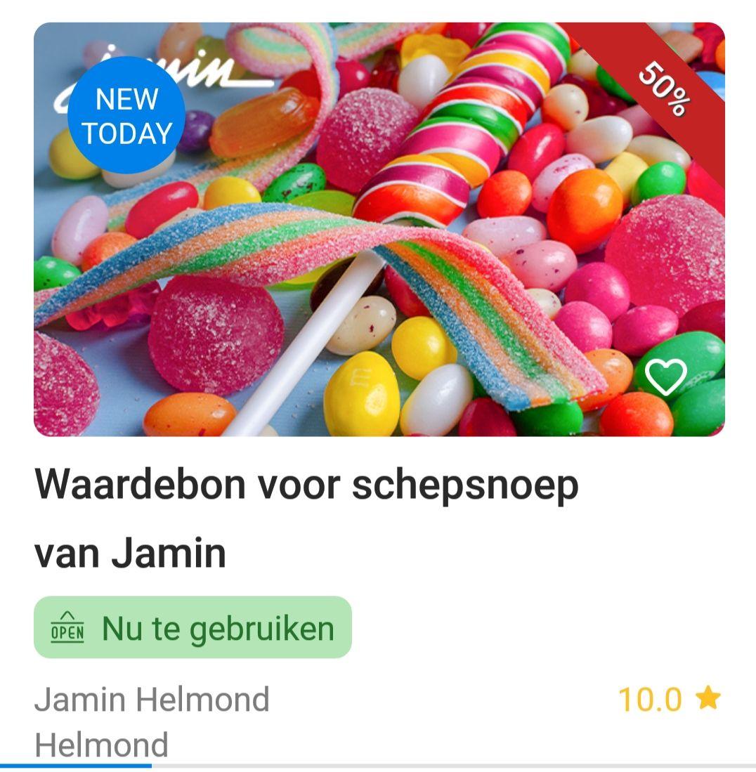 Snoep scheppen bij Jamin Helmond twv 15 euro