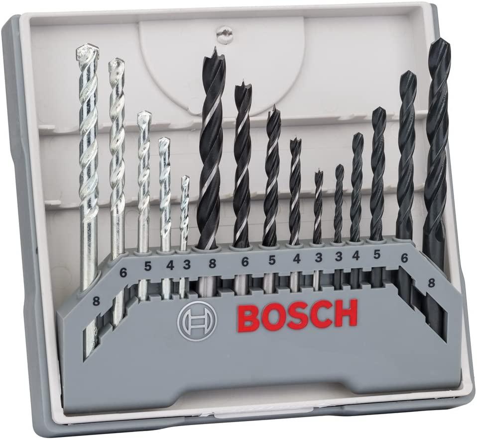 Bosch Professional 15-delige borenset assorti (voor metaal, hout en steen,