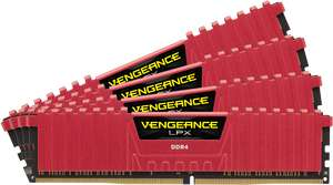 Corsair Vengeance LPX Red 32GB DDR4-2400 CL14 quad kit voor €116,77 @ Nextdeal