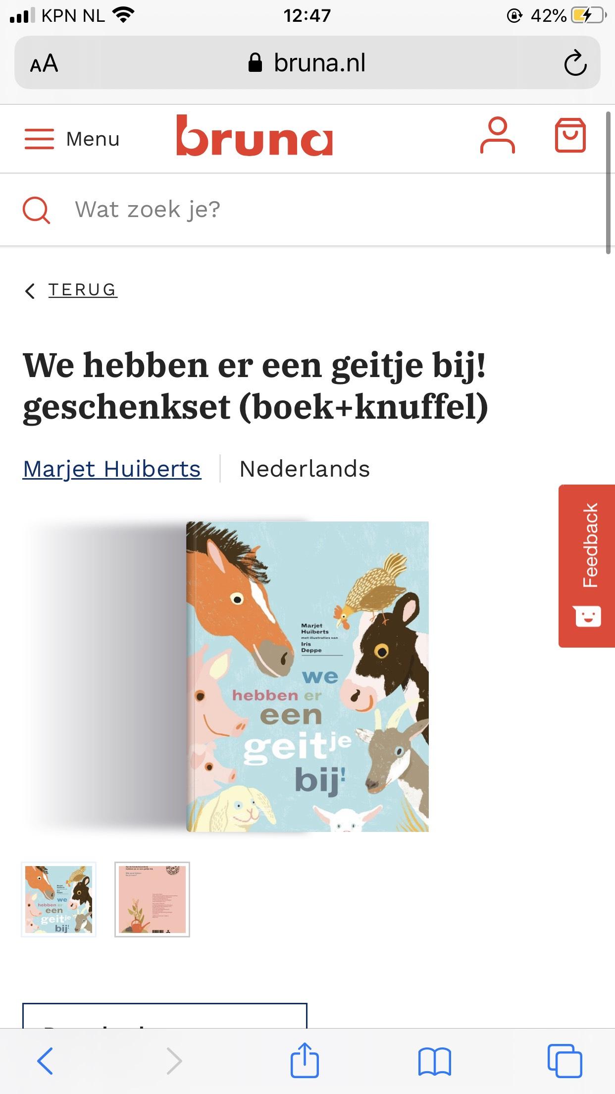 Leuk prentenboek 'We hebben er een geitje bij' + knuffel
