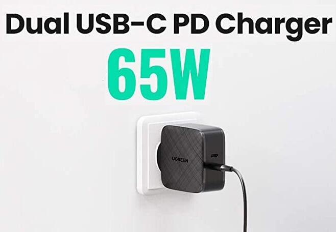 Ugreen 65W oplader USB C (2 poorten) PD3 QC3 voor €28,67 inc verzending @ Amazon DE