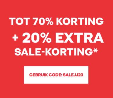Sale tot 70% + 20% EXTRA korting bij Jack & Jones