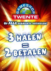 3 halen 2 betalen op gebruikte artikelen (ook PS4/Xbox One games) @ Gameshop Twente