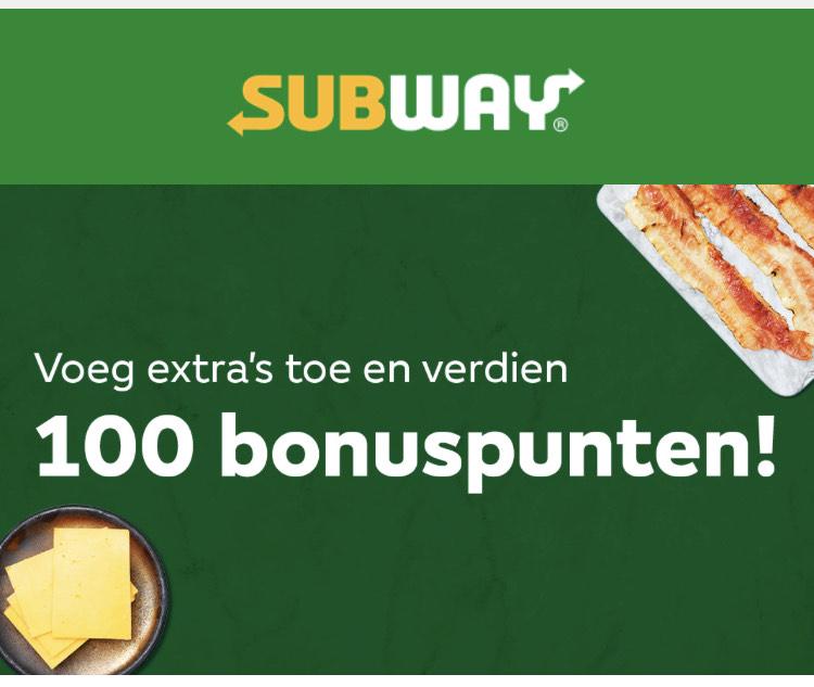 Subway - 100 bonuspunten verdienen?