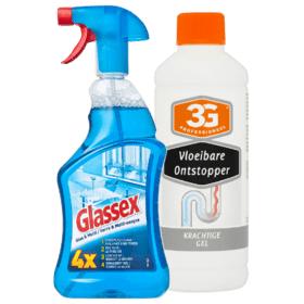 Alle 3G Profesioneel of Glassex Reinigers 2 stuks 2,69 bij Plus Supermarkt