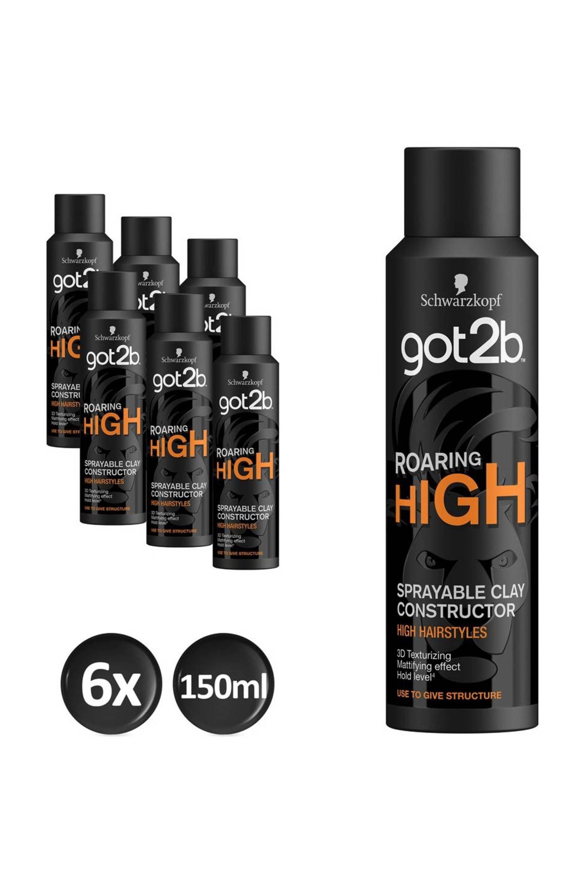 Schwarzkopf Roaring High High Spray Clay 6x150 ml voor €8,68 @ Wehkamp