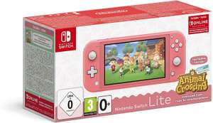 Nintendo switch lite coral + animal crossing & 3 maanden online