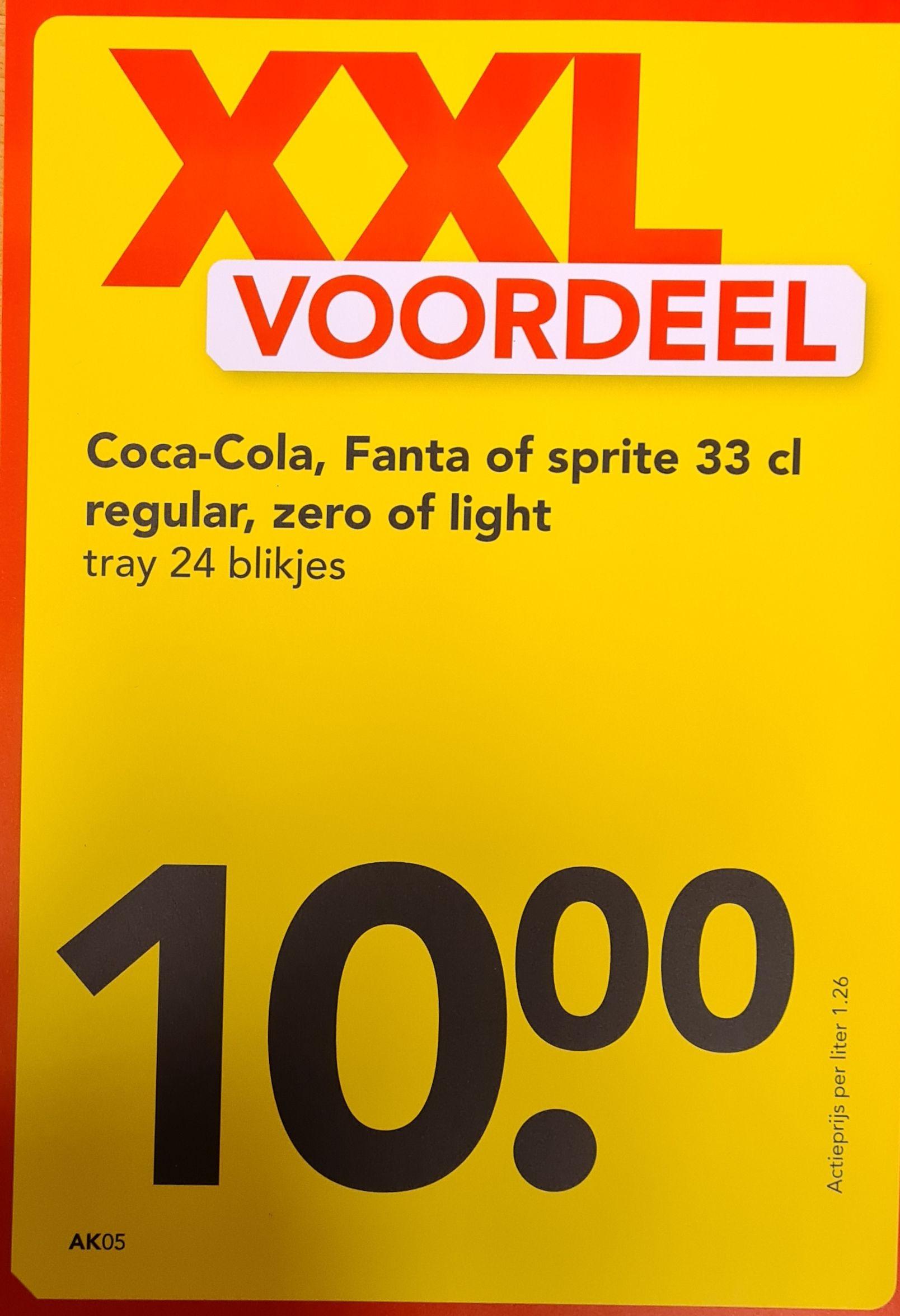 Coca-Cola, Fanta en sprite tray 24x33cl.