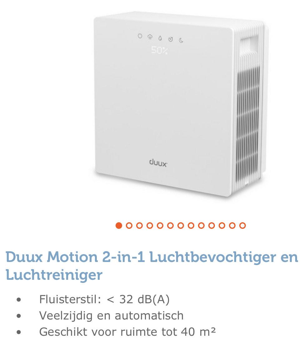 Duux Motion 2-in-1 Luchtbevochtiger en Luchtreiniger