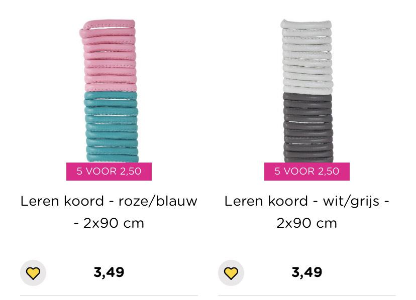Sieraden maken 5 voor €2,50 [was €1,99-€3,49 pstk] @ Xenos