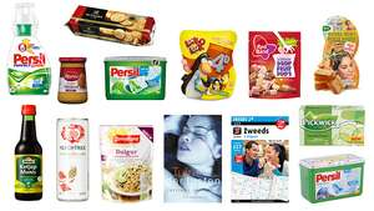 Goedkope boodschappen pakketten met oa Persil wasmiddel