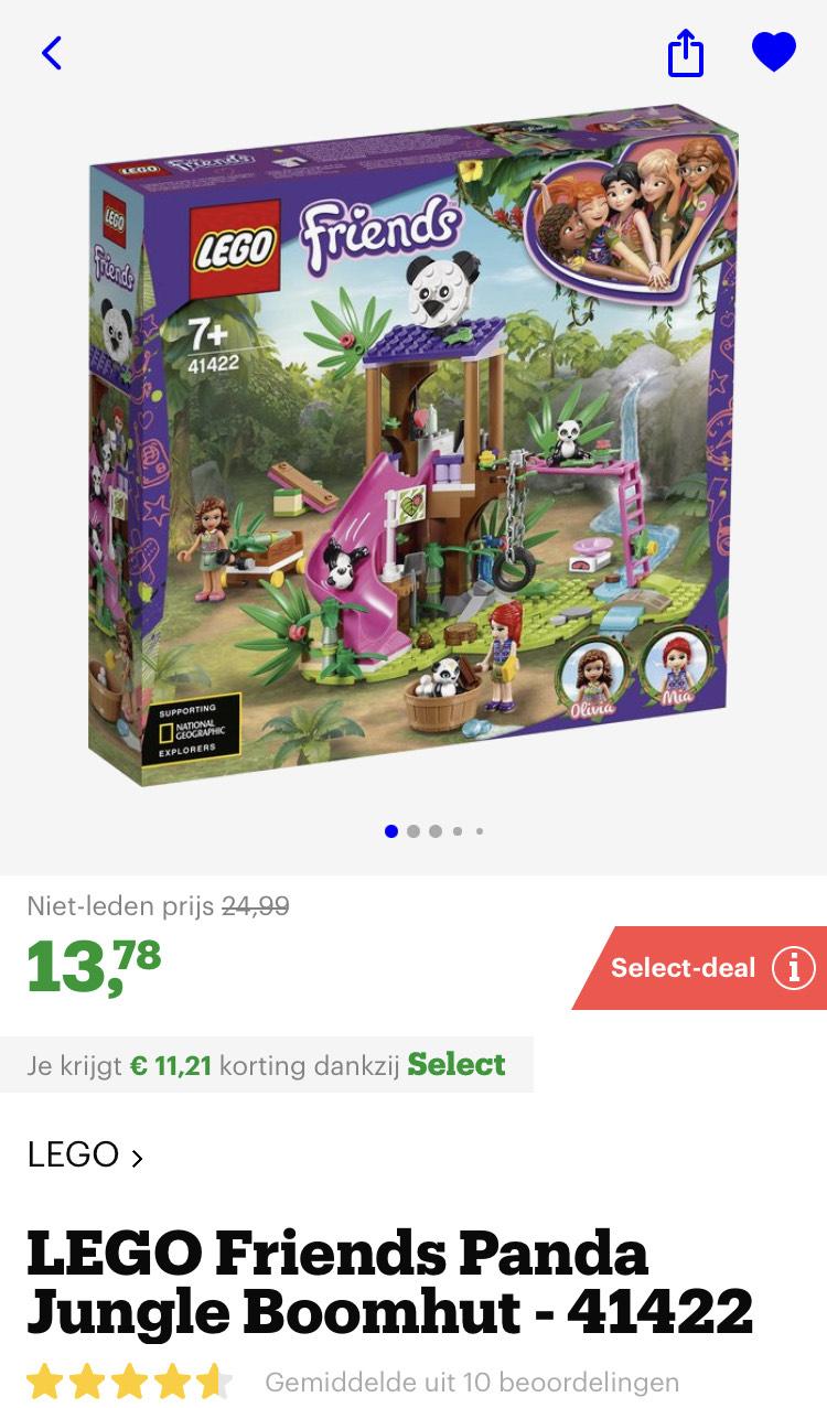[select deals bol.com] LEGO Friends Panda Jungle Boomhut - 41422 [zie beschrijving voor meer]