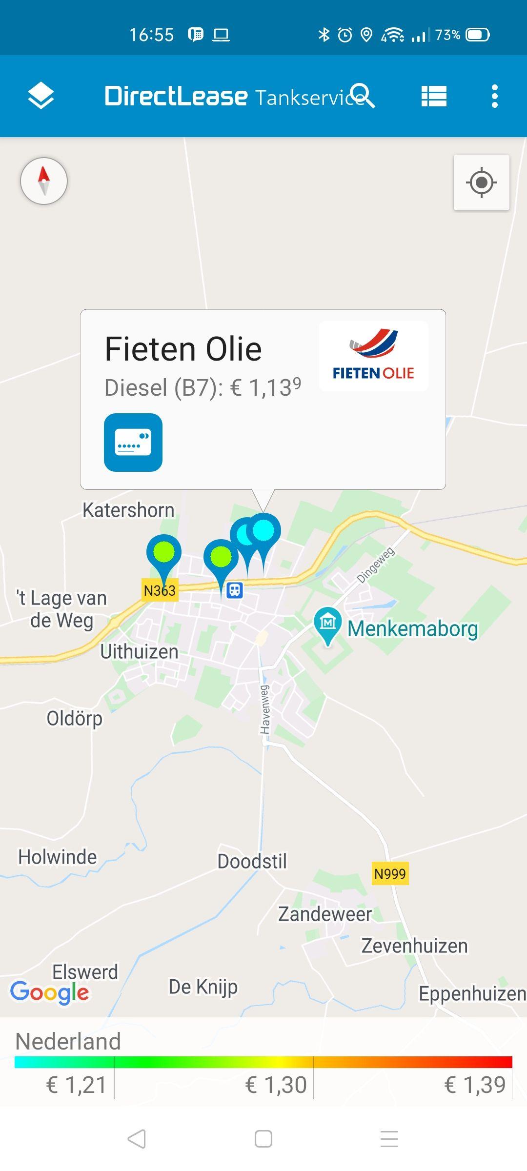 Laagste diesel prijs in Nederland?