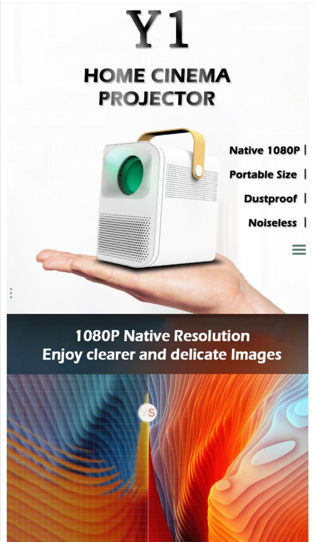 WEJOY Y1 Mini WIFI Projector 1080P Full HD LED LCD