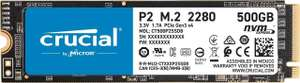 Crucial P2 500GB NVMe SSD @Amazon