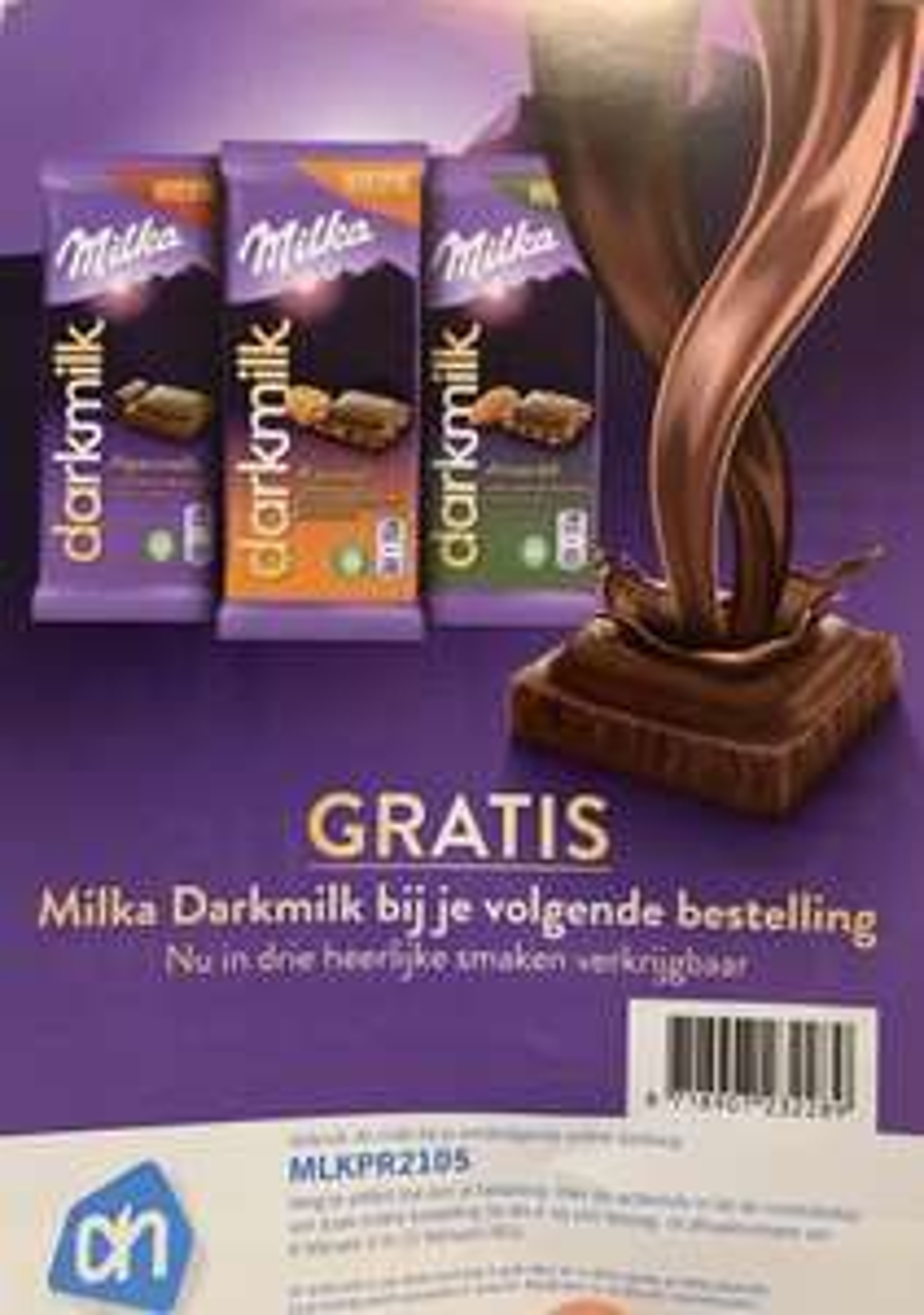 Gratis Milka Darkmilk chocoladereep