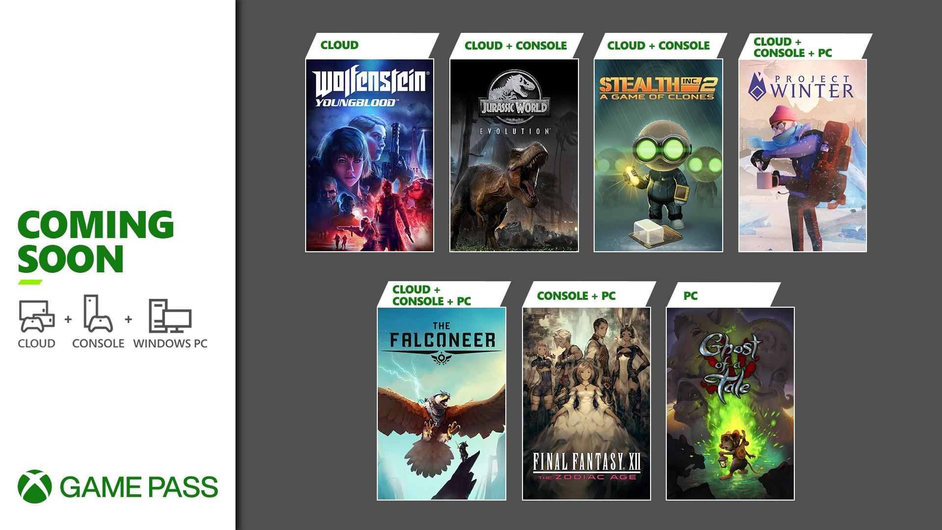 o.a. Wolfenstein Youngblood & Jurassic World Evolution naar Game Pass