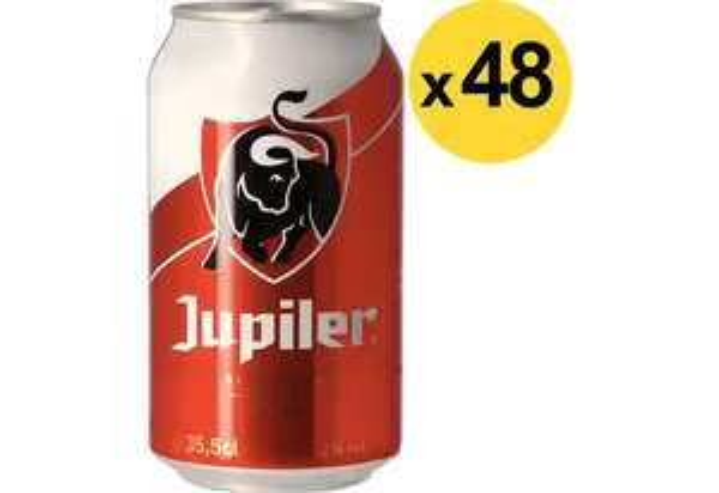 48x Jupiler Blik 33cl
