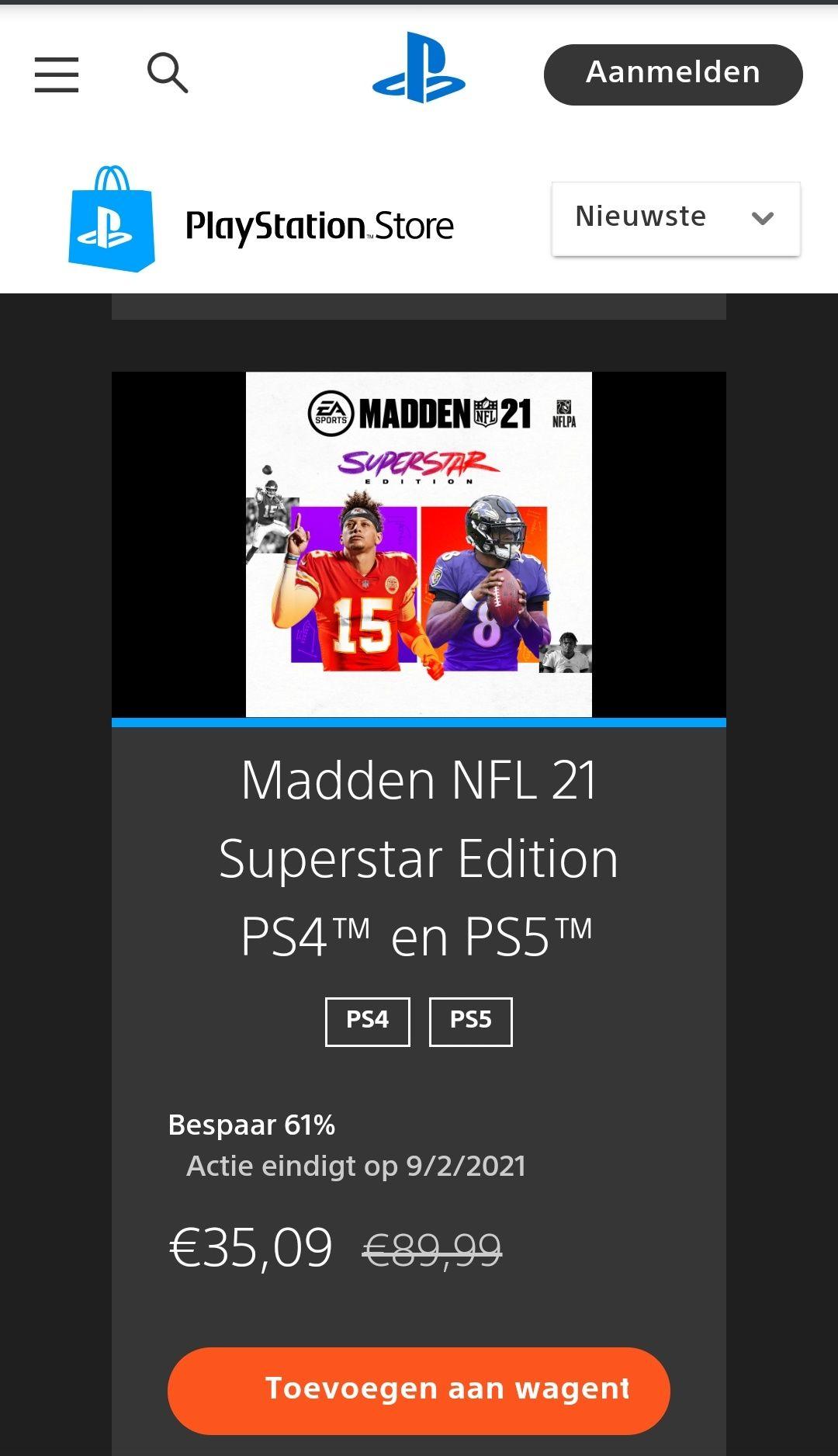 Madden NFL 21 Superstar Edition PS4/PS5