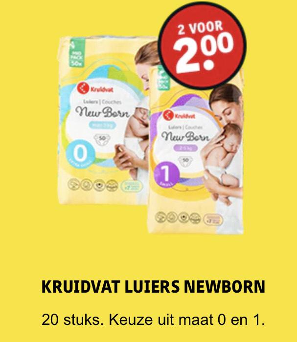 Baby dagdeals [o.a. 2 pakken newborn luiers voor €2,-] @ Kruidvat