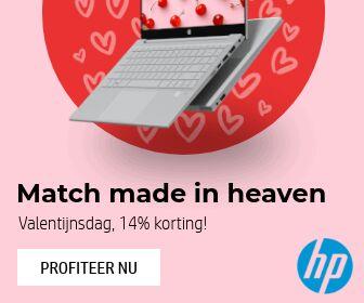 14% korting op laptops bij HP Store