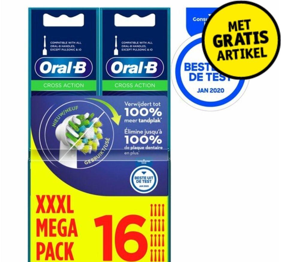 16 stuks Oral B Cross Action opzetborstels