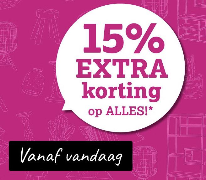 15% extra korting op Alles* [Nu ook afhalen in de winkel] @ Leen Bakker