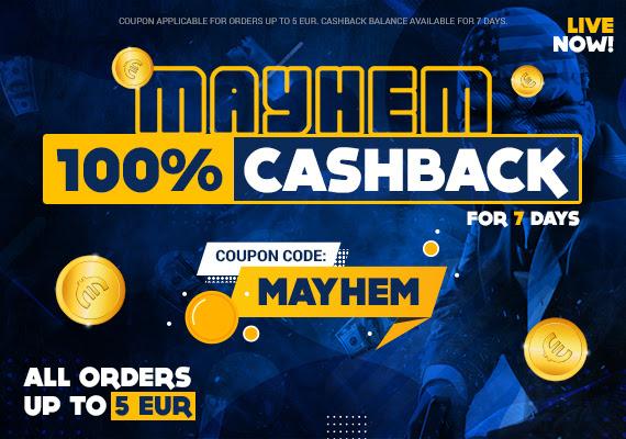 100% cashback in tegoed op alles tot €5 @ Gamivo