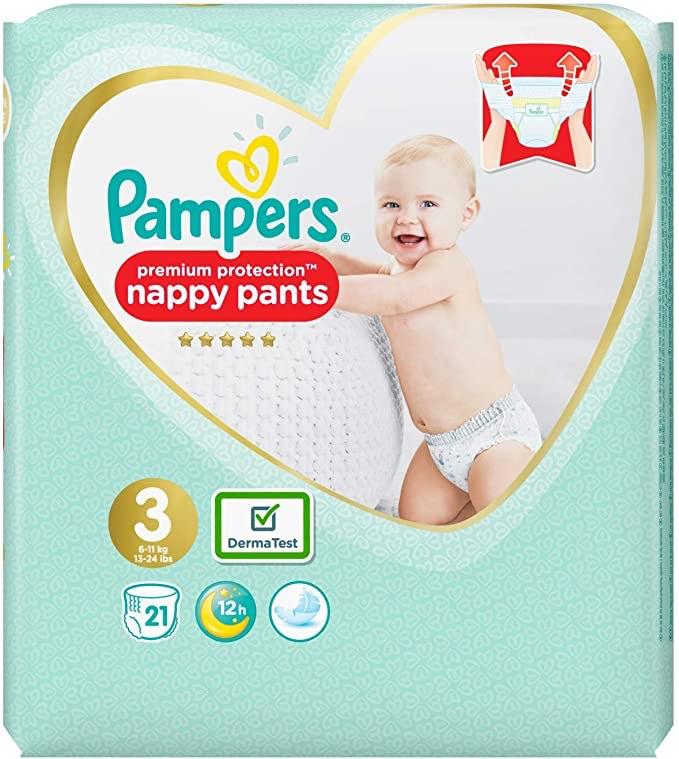Pampers Premium Protection Pants Maat 3, 21 stuks || Amazon.nl