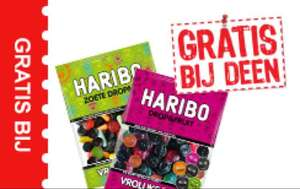 Gratis Haribo snoep (drop & fruit) (zoete drop)