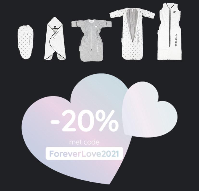 Puckababy 20% valentijnskorting