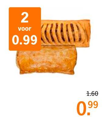 2 Frikandel- of Saucijzenbroodjes voor €0,99 @Albert Heijn