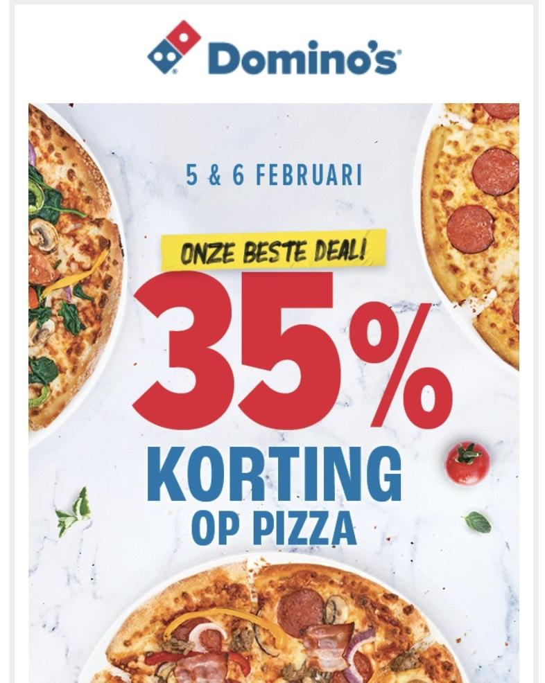 35% korting op Pizza bij Domino's [Geselecteerde vestigingen]