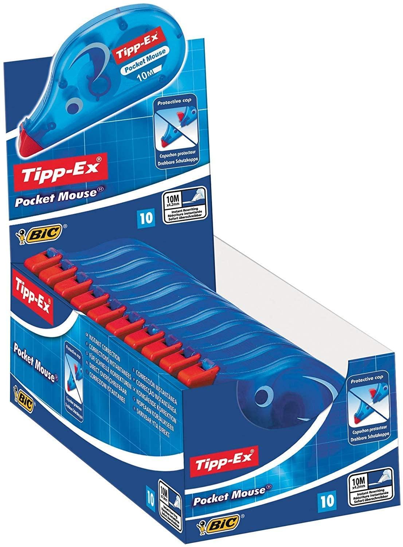 Tipp-Ex Pocket Mouse correctieroller (10 stuks) voor €4,93 @ Amazon.nl