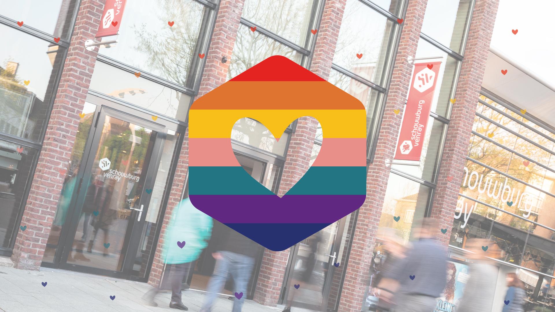 Gratis kleurig kaartje met Liefdevolle boodschap via Schouwburg Venray