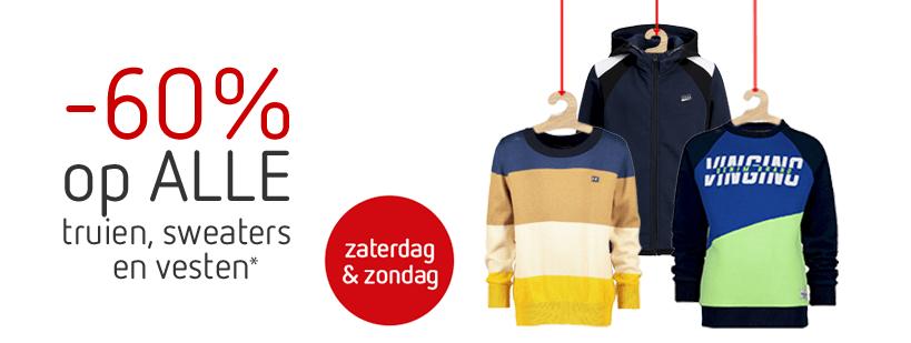 Weekenddeal: Tot 60% korting op alle sweaters, truien en vesten @Kleertjes.com